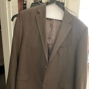 Dark tan suit jacket